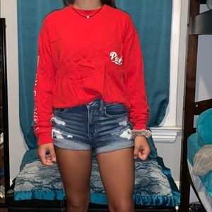 ❤️AWESOME❤️ Red long sleeve pink shirt